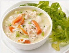 куриный суп с овощами и лимоном