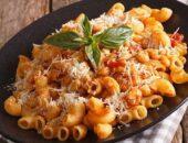 Макароны по-гречески с сыром и фасолью