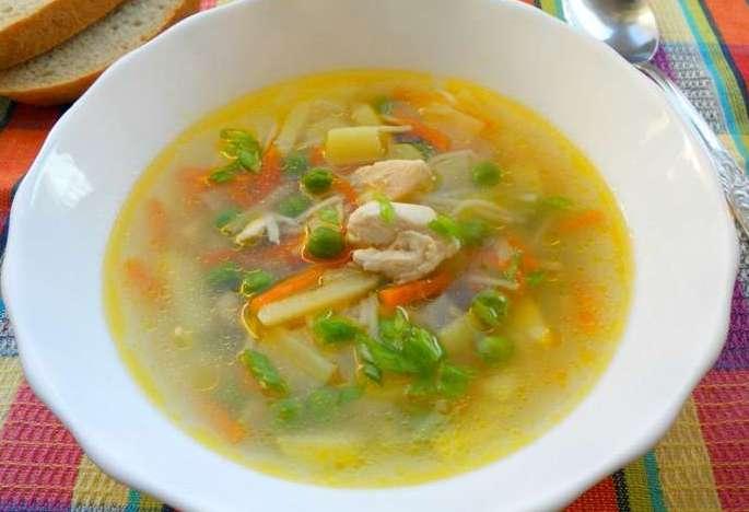 Суп из курицы с овощами