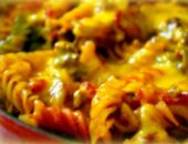 запеканка из макарон с овощами и фаршем