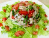 греческий салат с сельдью