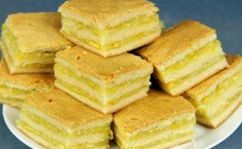 Пирожные с лимонно-апельсиновой начинкой