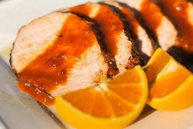 Свиное филе с апельсином в духовке