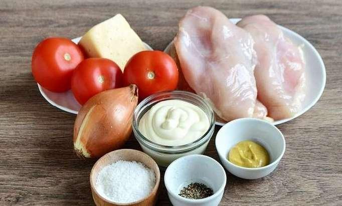 Ингредиенты для приготовления блюда из курицы