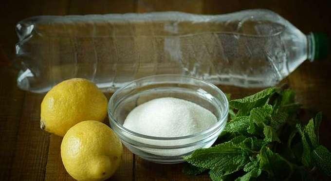 Приготовление домашнего лимонада с мятой