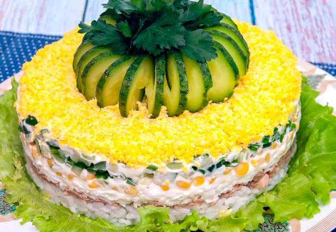 салат «Диана» с печенью трески