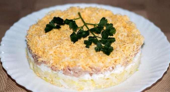 салат из печени трески – «Нежность»