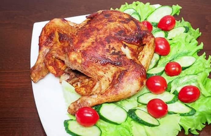 Курица запеченная в мультиварке с корочкой