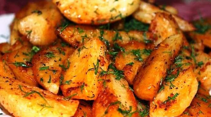 картофель дольками по-деревенски