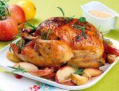 Курица в духовке целиком с хрустящей корочкой