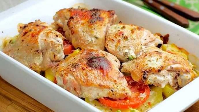 Курица в кефире запеченная в духовке