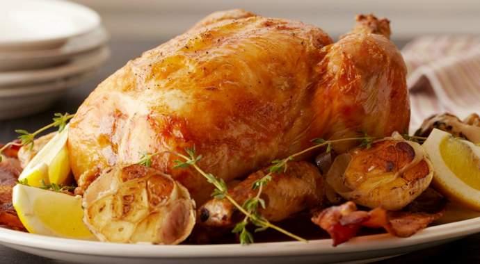 Курица, запеченная в духовке с лимоном