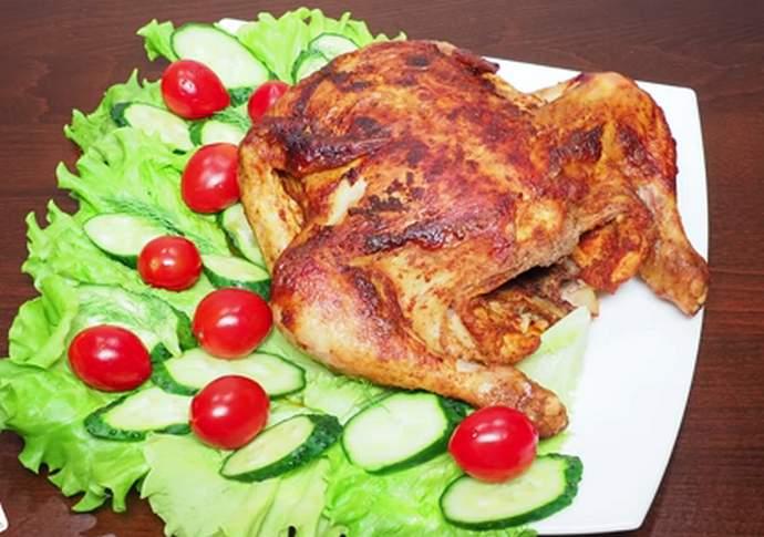 курица с хрустящей корочкой в мультиварке