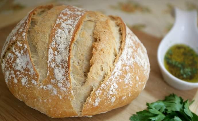 постный домашний хлеб