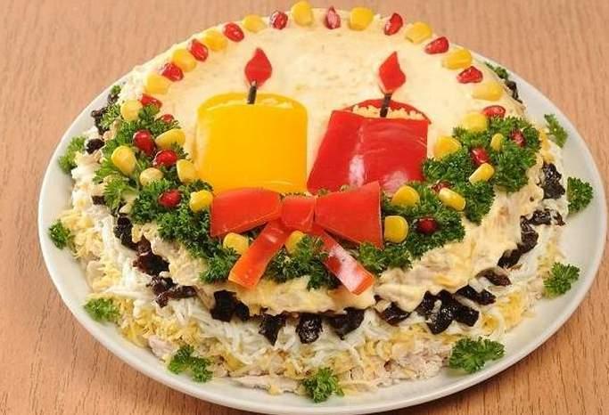 Очень вкусный салат к Новому году