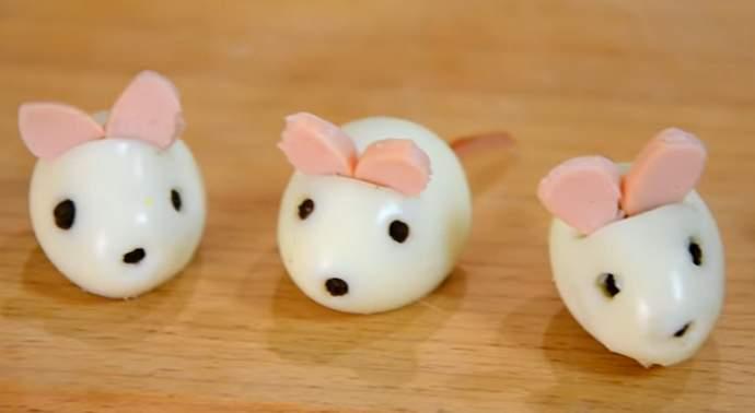 мышки для украшения салата