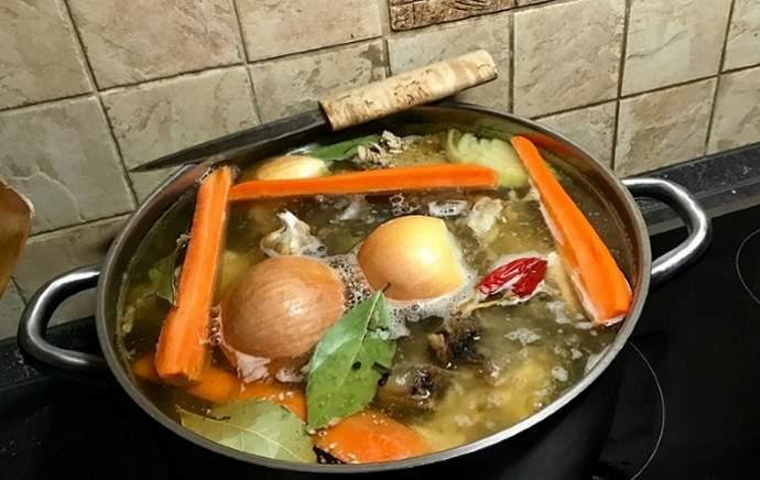 Добавление овощей