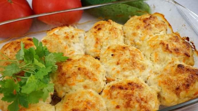 котлеты из куриного фарша с сыром запеченные в духовке