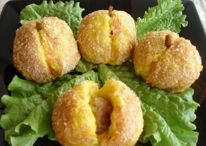 персики из картошки