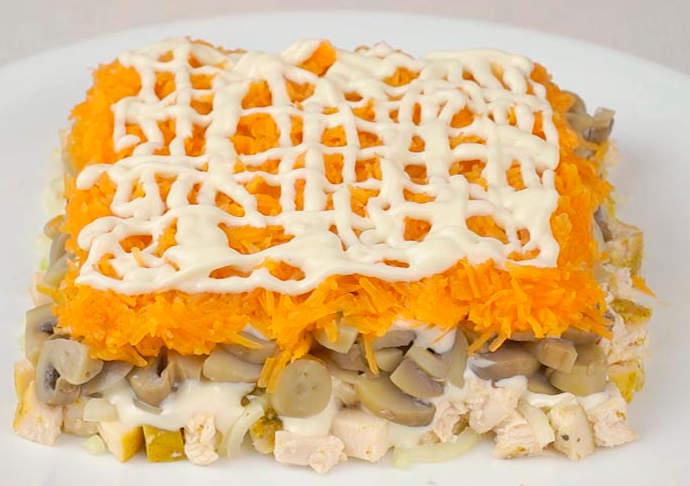 грибы морковь майонез