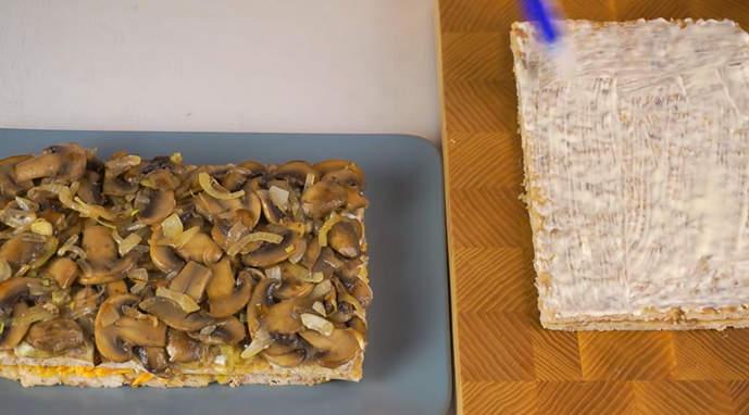 сборка мясного торта