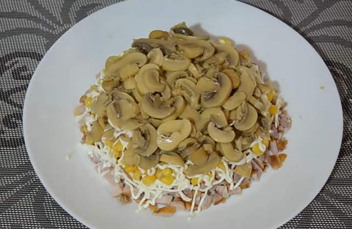 слой грибов