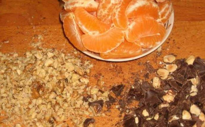 мандарины шоколад орехи