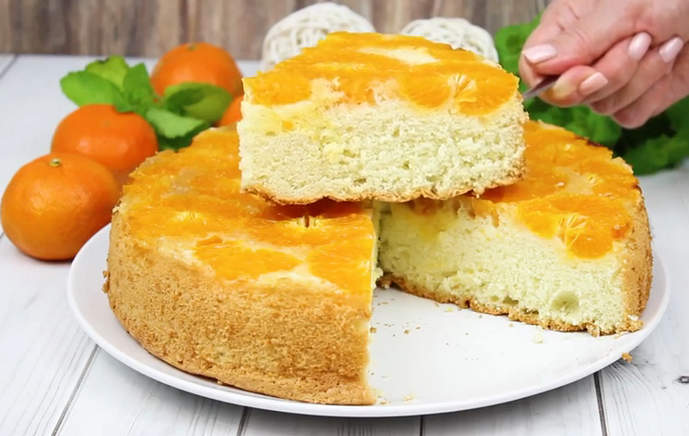 Шарлотка с мандаринами – рецепт бесподобно вкусного мандаринового пирога