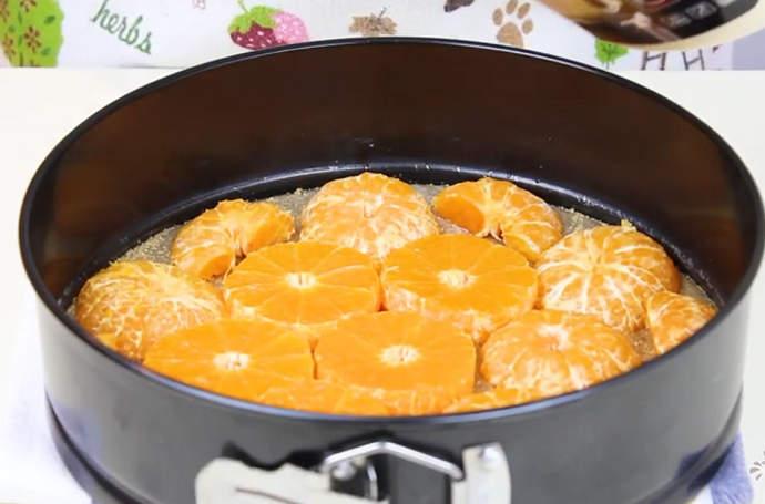 выкладываем мандарины