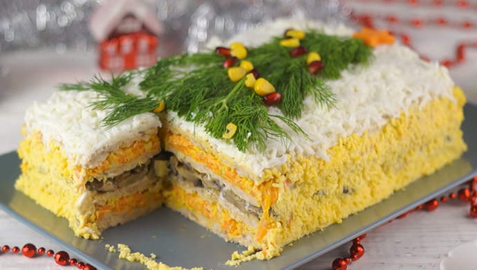 закусочный торт на Новый год