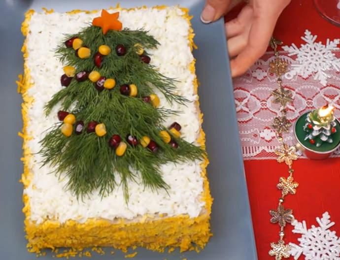 закусочный торт Елочка