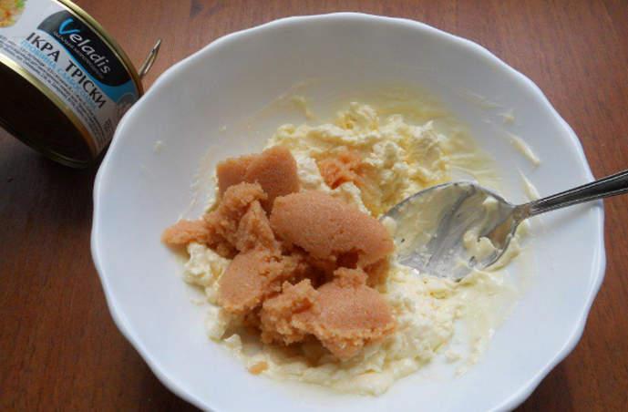 готовим соус с икрой трески