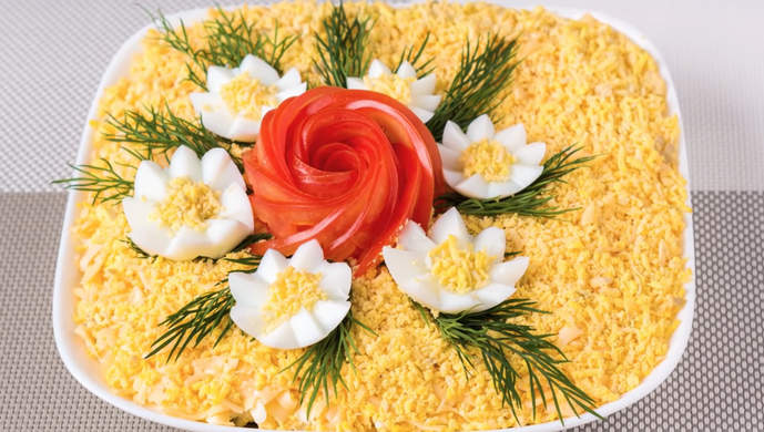 салат цветочная фантазия