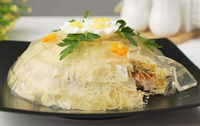 Салат Хрустальный – рецепт красивого и оригинального салата на праздничный стол