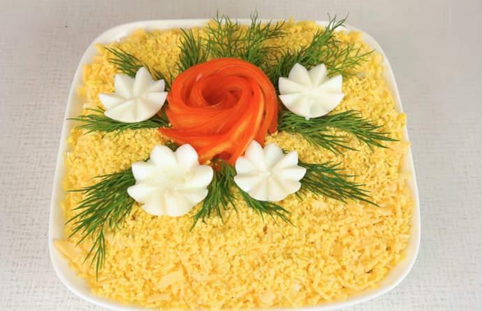 Оригинальные салаты с цветами на праздничный стол – рецепты вкуснейших салатов которыми можно удивить гостей