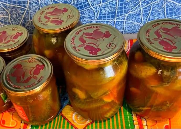 Огурцы в кетчупе на зиму – обалденный рецепт