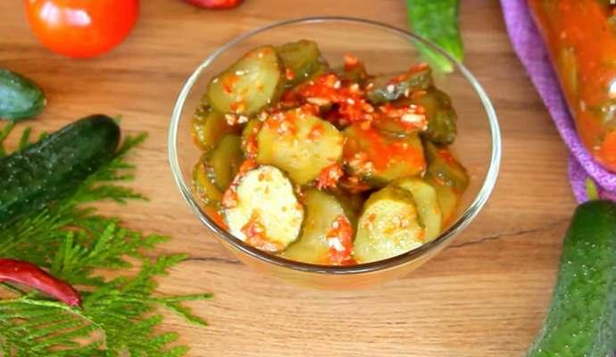 салат из огурцов по-грузински на зиму