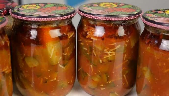 лечо из огурцов в кетчупе чили
