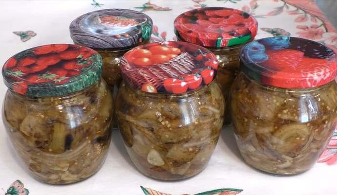 Шашлык из баклажанов на зиму с приправой для шашлыка