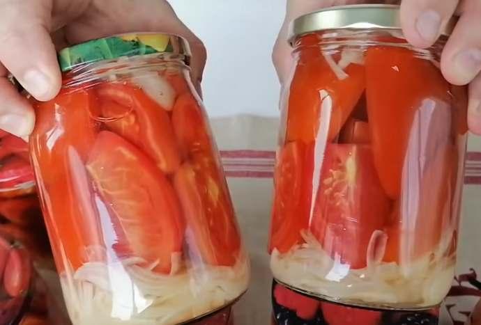 вкусный рецепт маринованных помидоров дольками