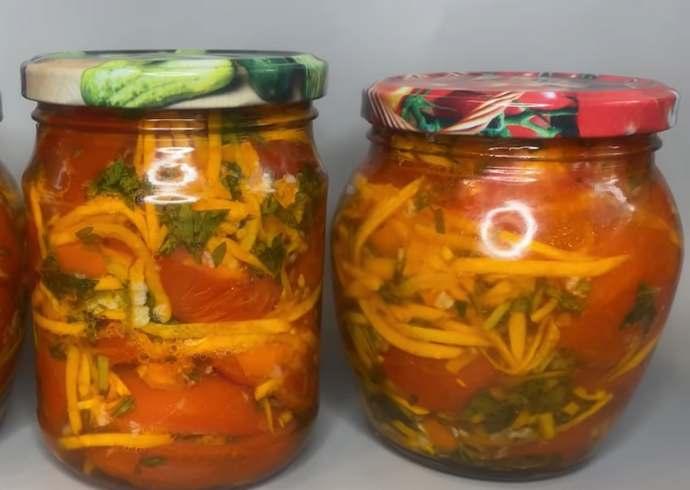 вкусные помидоры по-корейски на зиму