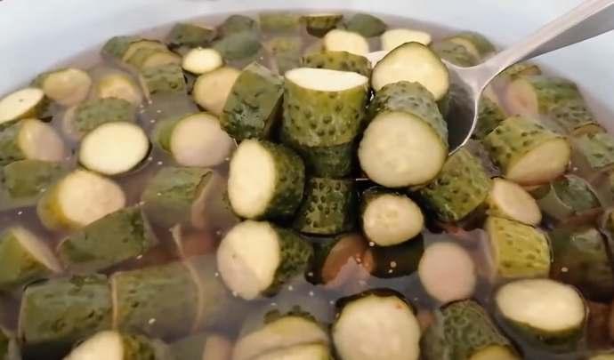 огурцы готовы оливкового цвета