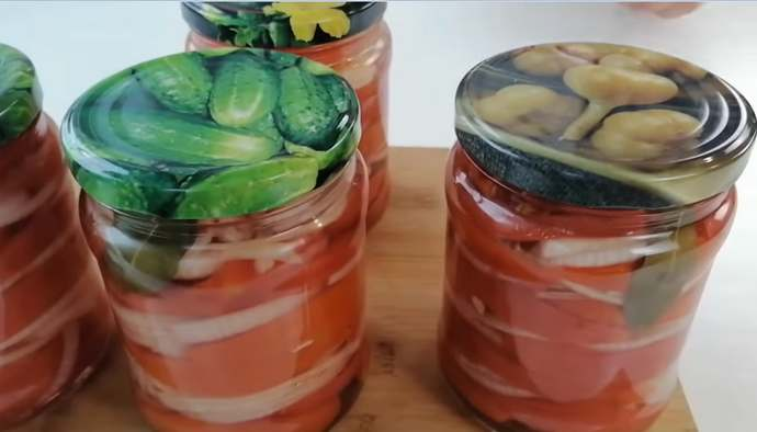 помидоры по фински на зиму готовы