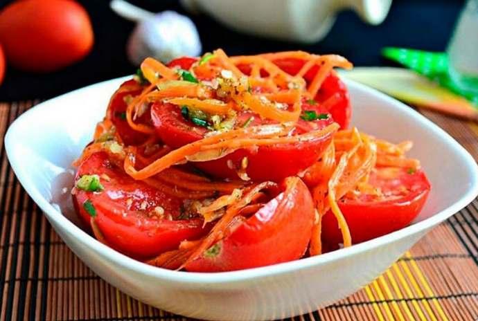 Помидоры по-корейски на зиму самые вкусные рецепты