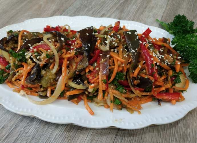 рецепты баклажан по-корейски «Пальчики оближешь»