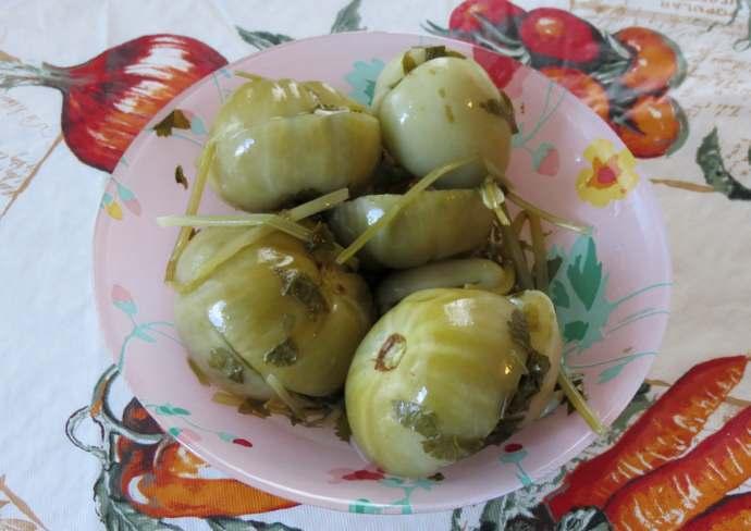 соленые зеленые помидоры бочковым способом