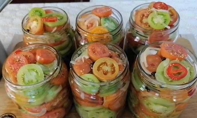 Как приготовить вкусные зеленые помидоры на зиму