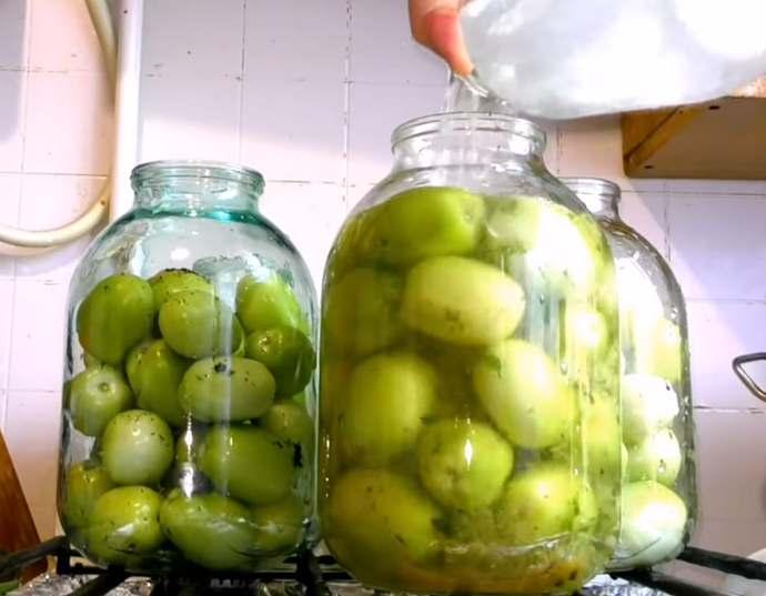 Зеленые помидоры на зиму в банках — самые вкусные и простые рецепты