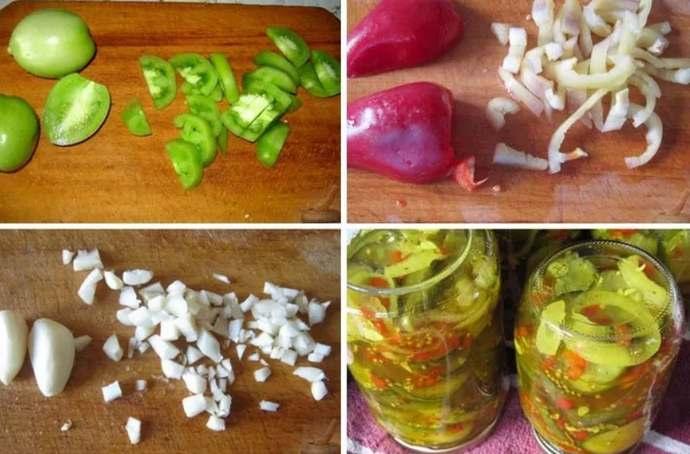 как приготовить салат из зеленых помидоров