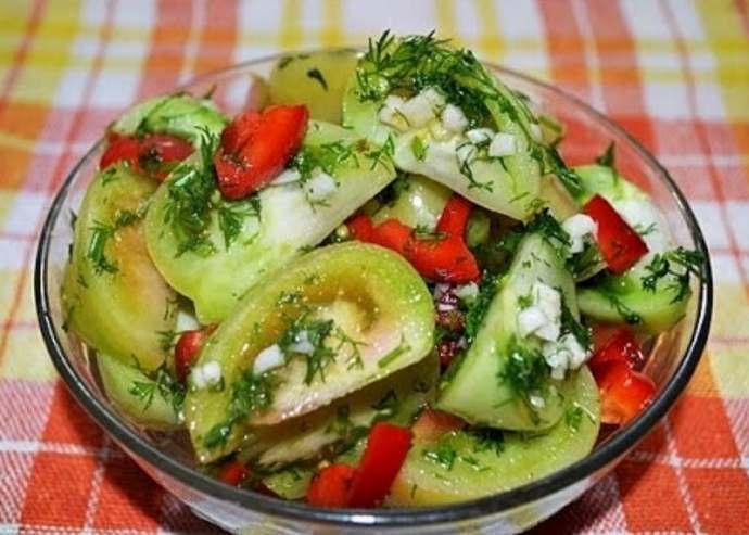 салат из зеленых помидоров по грузински